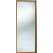 "Shaker Sliding Wardrobe Door 914mm (36"") Windsor Oak Mirror Door"